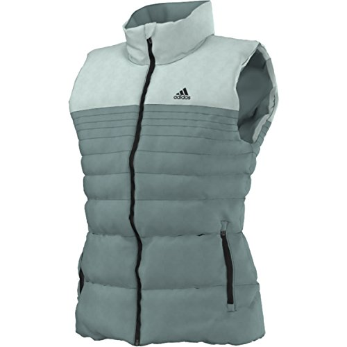 adidas Outdoor Women's Insulated Vest, Vapour Steel/Vapour Green, X-Small