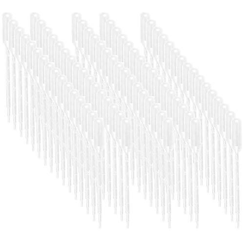 Pipetten Kunststofftransferpipetten 1ML145 Länge Einweg-Pipette, Pipetten mit ätherischen Ölen, Pipetten-Augentropfen, Einweg-Pipetten für klare flüssige Tropfer (100 Stück pro Packung)
