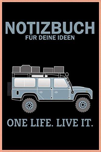 ONE LIFE LIVE IT, Defender Dachzelt Offroad 4x4 Reisefahrzeug Geschenk lustig