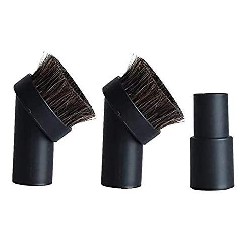 Ctzrzyt Reemplazo de Piso Duradero para la MayoríA de los Accesorios Aspiradora Cepillo Redondo para Polvo de Cabello de 1.25 Pulgadas Adaptador de 1-3/8 Pulgadas una 1-1/4 Pulgadas