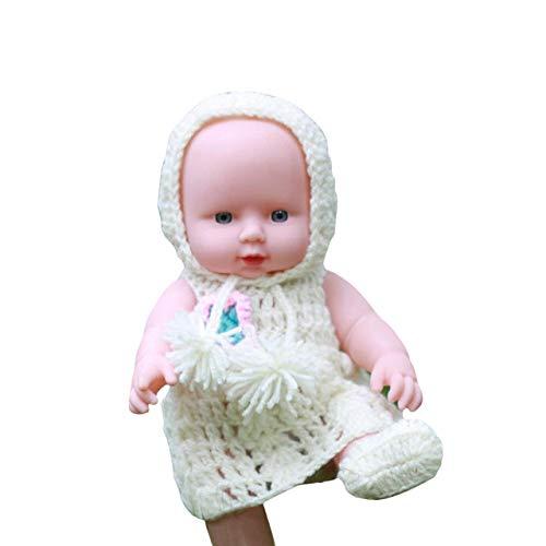 ASDAD LOL Puppe Überraschung Für Mädchen Latex Puppe Spielzeug Für Kinder Bebe Reborn Menina Corpo De Silikon Weiche Emulierte Babypuppen,White