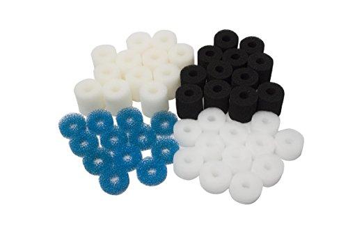 LTWHOME Almohadillas de Filtro de Carbono o Espuma Gruesa o Fina para Eheim Aquaball 2208 2210 2212/60 130 180