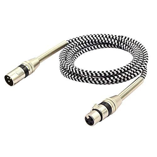LoongGate symmetrisches Premium Series geflochtenes XLR-Kabel, professionelles Mikrofonkabel für Power-Lautsprecher, Audio-Interface oder Mixer, Live Performance und Aufnahme 3 m