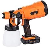 Pistola a spruzzo per verniciatura a batteria a batteria da 18 V per recinzioni da giardino, trattamento del legno, mobili, trattori e altro