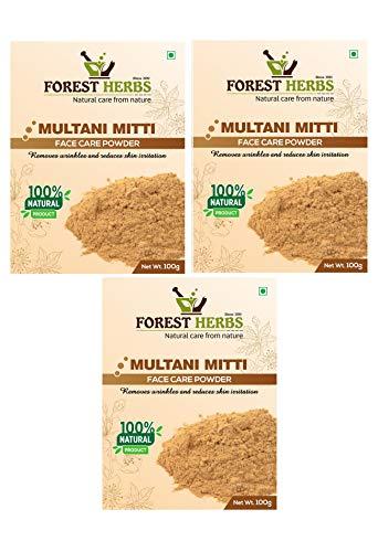 Forest Herbs 100% Natural Multani Mitti (Fuller's Earth/Calcium Bentonite Clay) for Skin...