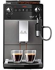 Melitta Avanza F270-100 Mystic Titan, liten helautomatisk kaffemaskin, svart