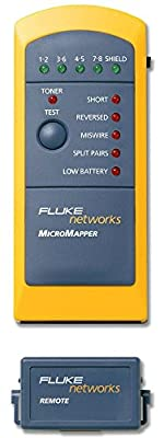Fluke Networks MT-8200-49A MicroMapper Copper Cable Network Wiremap Verification Tester
