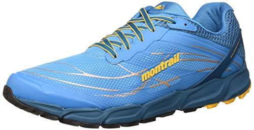 Columbia CALDORADO III, Zapatilla de Trail Running para Hombre, Azul (Riptide/Honey Yellow 463), 43 EU