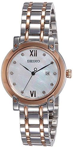 Seiko Damen Analog Quarz Uhr mit Edelstahl beschichtet Armband SXDG84P1
