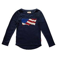 Levi 's Kids Camiseta de Manga Larga Color Negro para niña