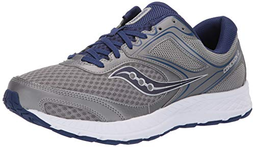 Saucony Men's Versafoam Cohesion 12 Road Running Shoe, grey/blue, 11 M US