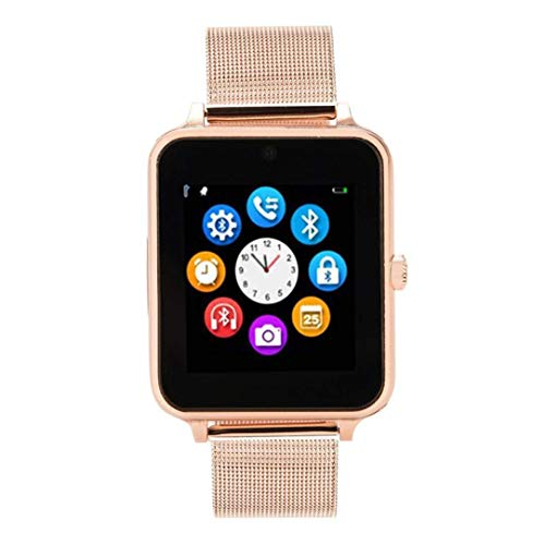 Smartwatch Z60 Pro | Update Bonn | Bluetooth Uhr kompatibel mit Android iOS Windows intelligente Armbanduhr mit SIM & TF Slot 2018 Model Facebook Whatsapp Fitness und IOS Android (Rosegold)