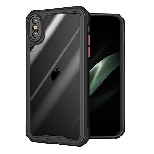 ZHIKE Funda para iPhone, Funda de protección Duradera anticaída Funda de TPU Suave Funda Antideslizante a Prueba de Golpes Compatible con Apple iPhone (iPhone X/XS, Negro)