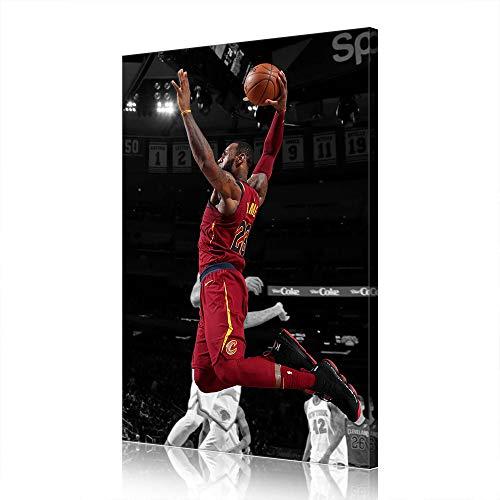 Cave Lebron James Cleveland Cavaliers Canvas Prints NBA Poster Immagine Opera Uomo (prints4,40x60cm)
