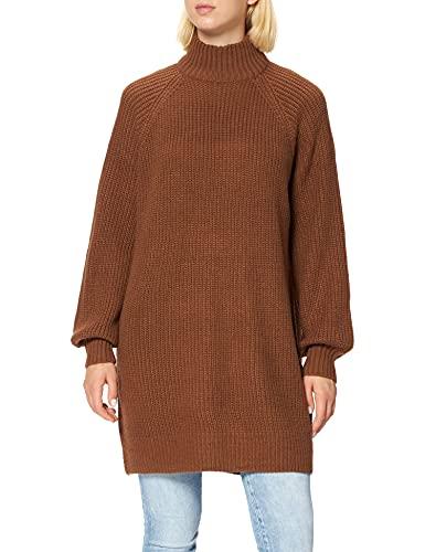 Noisy may Damen NMTIMMY L/S Knit Dress NOOS Kleid, Partridge, M