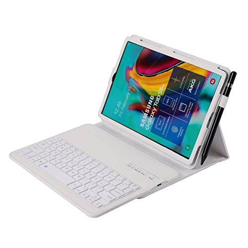 LICHONGGUI For Samsung Galaxy Tab S6 Lite 10.4 P610 & P615 (2020) / Tab S5e / T720 2 in 1 Detachable Bluetooth Keyboard + Litchi Texture Protective Case with Stand & Pen Slot (Color : White)