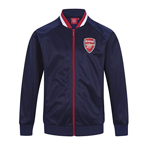 Arsenal FC - Jungen Trainingsjacke im Retro-Design - Offizielles Merchandise - Geschenk für Fußballfans - Dunkelblau - 6-7 Jahre