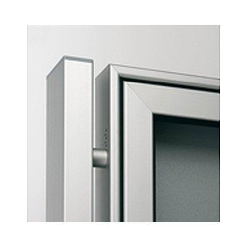 Rechteckrohr aus Aluminium zu Einbetonieren, pulverbeschichtet nach RAL, passend für alle Modelle, Länge: 240,0cm,