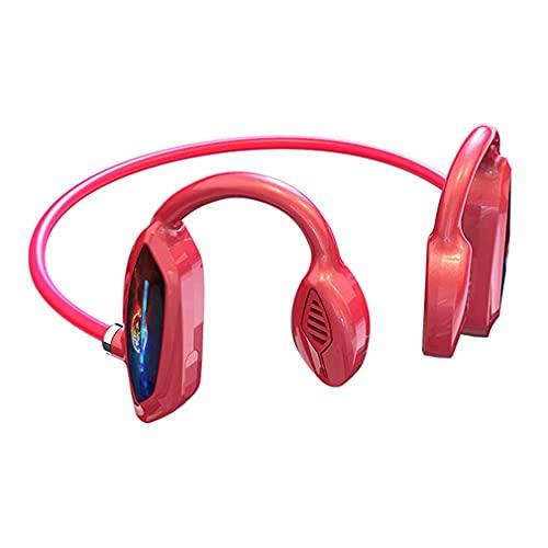 AQUYY Auriculares Deportivos Inalambricos Cascos Bluetooth Open-Ear con Reducción de Ruido de Micrófono, IPX5 Impermeable Estéreo Wireless para Correr Fitness Conducción Ciclismo Red