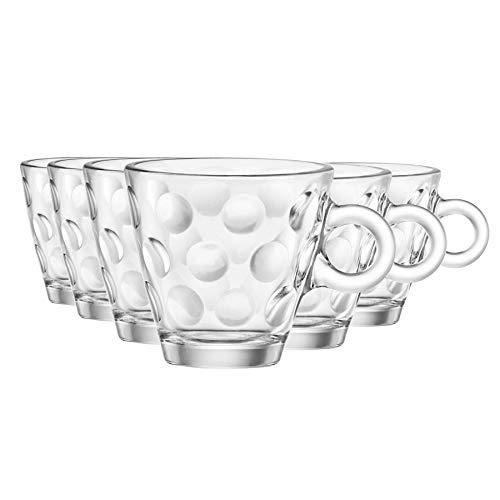 Bormioli Rocco Puntos del café express de los vidrios Set - 85 ml - Envase de 12