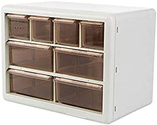 $24 » Chris.W 8-Drawer Plastic Parts Storage Organizer Hardware Craft Cabinet for Office Supplies Nail Beauty Tools, 10.24 x 6.3 x 7.48 inches(Ivory)