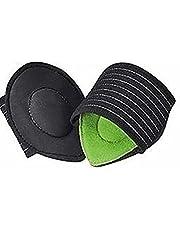 2PCS Compressie Fasciitis Gedempte Steunzolen Inlegzolen Orthopedische Trainer Voetverzorging Zool Pads Voor Mannen Vrouwen - Groen 10 * 9cm