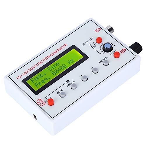 Surebuy Generador de Funciones Dc3.5-10v, Fg-100 Generador de señales DDS Generador de Funciones DDS con Cable de Datos USB, Adecuado para medición electrónica