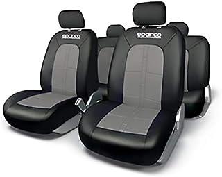 SPARCO Universal Seat Cover Set, SPC1015BK/D, H10.6 x W16.6 x D2.8 cm, Black/Grey