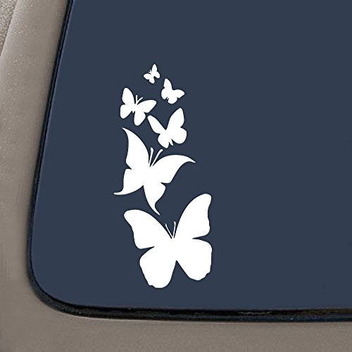 """NI122 Butterfly Family- Die Cut Vinyl Window Decal/sticker for Car , Truck, Laptop 