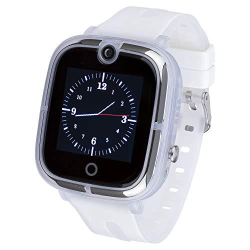 JBC Kinder | Mit Neuer Akku Leistung | GPS Uhr | Smart Watch | SOS Telefon | (Weiß)