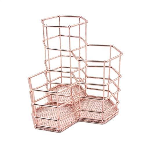 metall stifthalter rosegold, stifte behälter schreibtisch make-up bürstenhalter