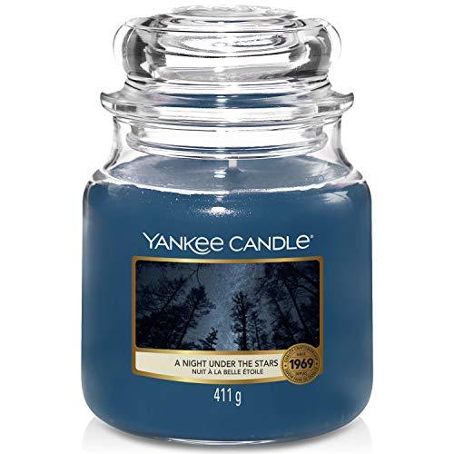 Yankee Candle candela profumata in giara media   Una Notte sotto le Stelle   durata: fino a 75 ore