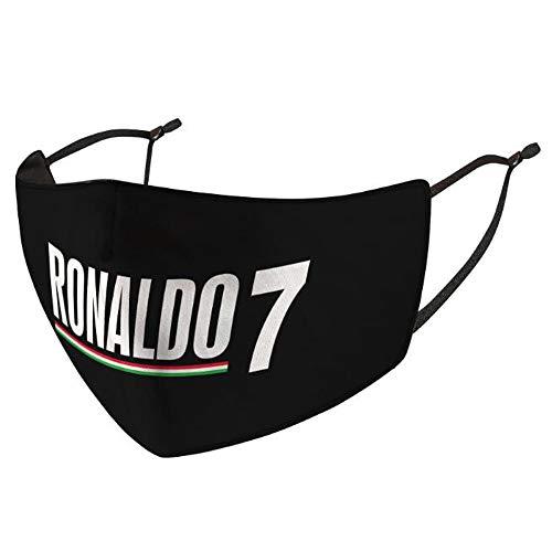 Fußball Spieler Muster Sport im Freien verhindern UV Softeis Seide Staub 3D verstellbare Ohrbügel Maske 2 Stück (Cristiano Ronaldo)