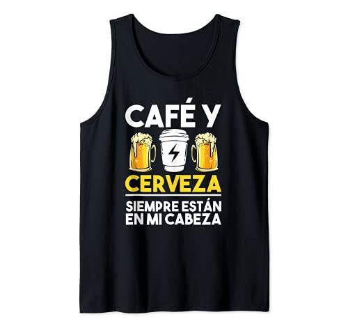 Café Grano Jarras Cerveza - Cafetera Cappuccino Barista Camiseta sin Mangas