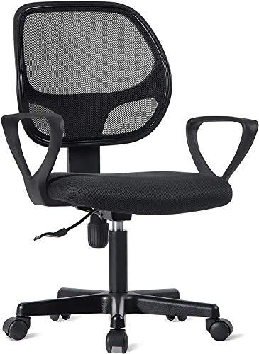 Bürostuhl Schreibtischstuhl Ergonomischer Computerstuhl Drehstuhl Mesh Höhenverstellbar Belastbar bis 250LB Schwarz