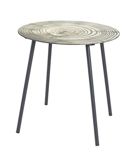 Preisvergleich Produktbild Haku-Möbel 15137 Beistelltisch,  Metall,  Schwarz-Natur,  Ø: 40 x 41 cm