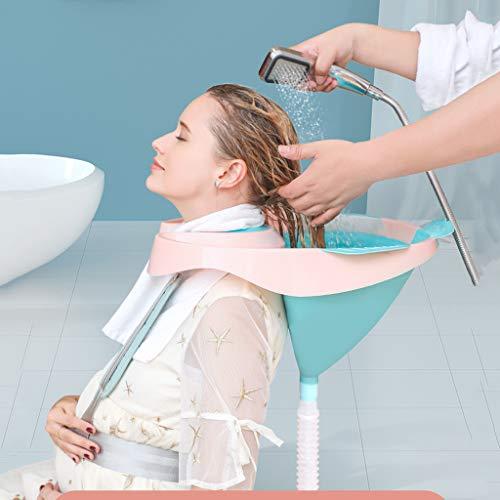 Kengsiren Shampooing Cheveux Portable Salle De Lit Mobile pour Les Femmes Enceintes, Les Personnes Handicapées, Clouée Au Lit Et Les Personnes Handicapées avec Baignoire Shampooing