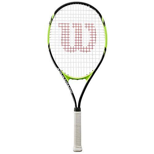 Wilson Tennisschläger, Advantage XL, Unisex, Anfänger und Freizeitspieler, Griffstärke L3, Schwarz/Grün, WRT30140U3