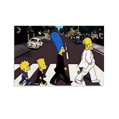 SHJKL Cuadro artístico para niños con dibujos animados Simpson Art Hanging Pictures Canvas Art Poster and Wall Art Picture Print Moderno Familiar Dormitorio Decoración Posters 30 x 45 cm