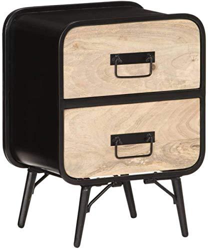 HappyL Gabinete de Noche con Las Tablas de cajón de la mesita Lateral Mesa Auxiliar for Decoración 40x30x55 cm sólido Mango de Madera
