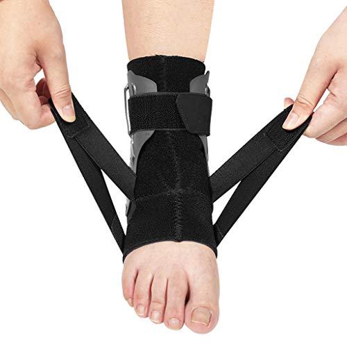 TIREOW Knöchelbandage Kompressionsstützhülse Elastischer Knöchelbewegungsschutz Fußbandage Sprunggelenkbandage für Handball Fußball Volleyball Damen Herren Kinder (M)