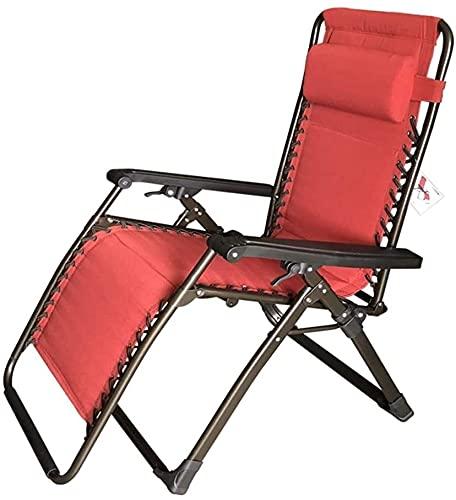 YZPDD Terrasse Lounge Chairs Lounge Chair, Bürolounge Chair Lunch Break Folding Faulenstuhl Outdoor Freizeit Sommerstuhl Siesta Stuhl 180x63x58cm langlebig