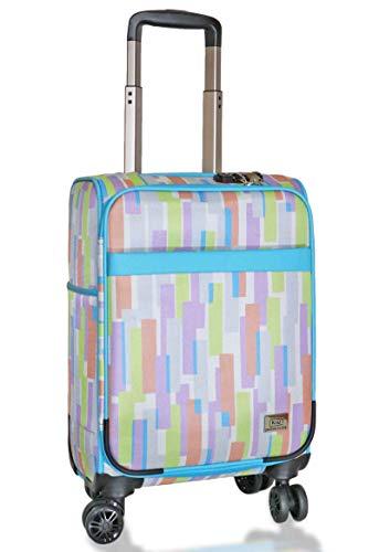 (キウ) kiu スーツケース TSAロック ソフトキャリーケース Mサイズ 20インチ Sサイズ 18インチ スーツケース 軽量 機内持ち込み 旅行 出張 (S 18インチ, スプリット)