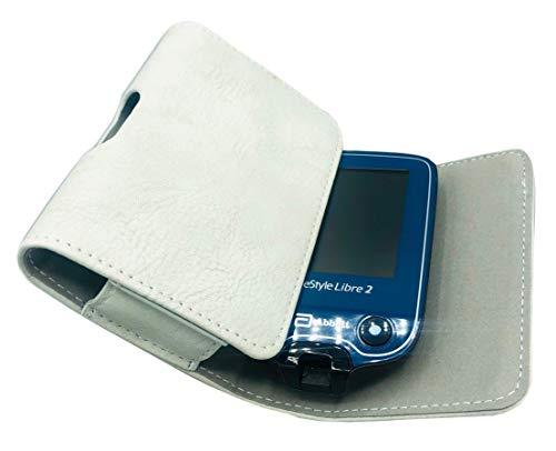 SEWAS Diabetic Care, Tasche für das Freestyle Libre Messgerät 1 und 2, Gürteltasche Blutzuckermessgerät, Diabetikertasche, Schutzcase hell Grau