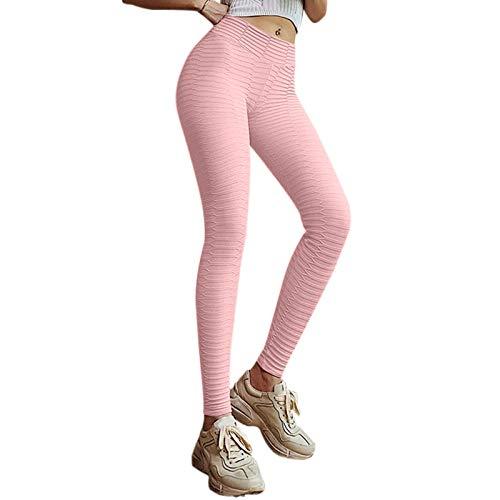 WEFR Pantalones Yoga Mujer,Leggings Mujer Fitness Suaves Elásticos Cintura Alta Pantalon,Mujer Compression Leggings,Mujer Deportivos Leggings Pantalones Elastico para Yoga,Pantalones Leggins Mujer