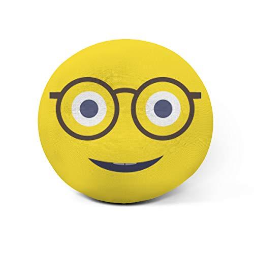 AR Regalos Cojín Emoji Personalizado con Frase (Emoji Gafas Friki)