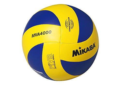 『ミカサ(MIKASA) バレーボール 4号 レクリエーション レジャー用 (中学生・婦人用) イエロー/ブルー 推奨内圧0.25(kgf/㎠) MVA4000』の1枚目の画像