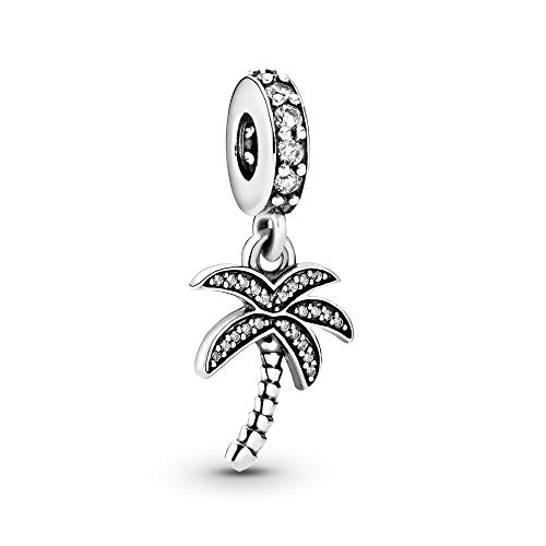 Pandora Jewelry Sparkling Palm Tree Dangle Cubic Zirconia Charm in Sterling Silver