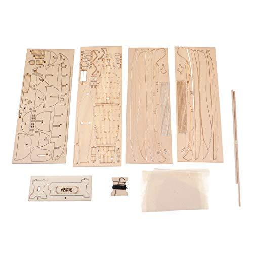 B Blesiya 1:148 DIY Holzboot Modellbausatz Kinder Basteln Spielzeug