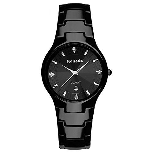ultra dünne Keramikuhr/Damen Uhren Diamant Spiegel/Wasserdichte Quarz-Uhren-A